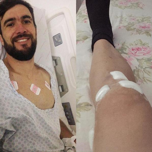 Vovô faz cirurgia no joelho e se recuperabem