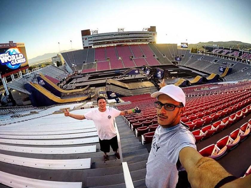Rony e Leo Ruiz no Nitro World Games. (Arquivo pessoal)